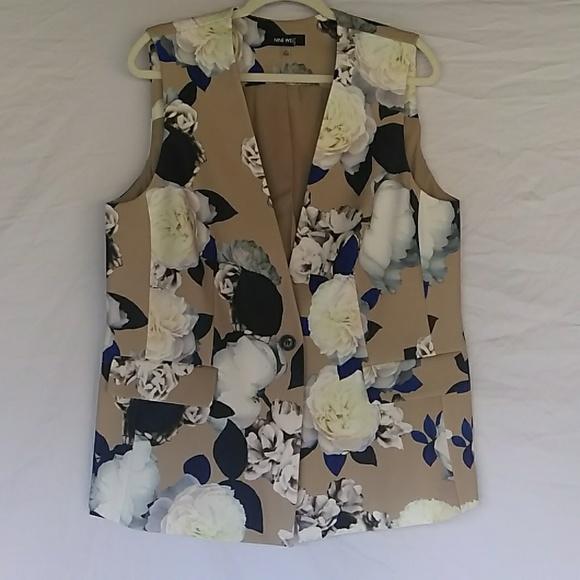 Nine West Jackets & Blazers - Nine West Floral Vest